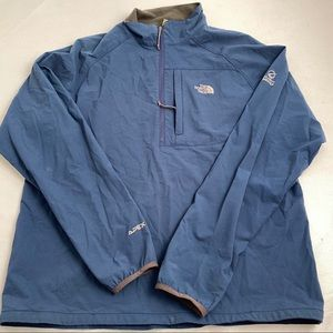 The North Face blue/gray Apex 1/4 zip pullover L